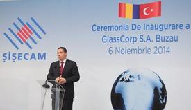 Romanya Başbakanı Victor Ponta, Şişecam Topluluğunun Sürdürülebilir Büyüme Hedefleri Doğrultusunda Romanya'da Hayata Geçirdiği Otomotiv Camları Yatırımının Açılışına Katıldı.