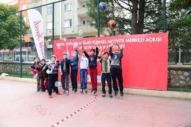 """Coca-cola İle Bursa Halk Sağlığı Müdürlüğü İş Birliği İle Halkı Hareketli Yaşamaya Teşvik Etmek İçin """"kestel Toplum Sağlığı Fiziksel Aktivite Merkezi"""" Açıldı."""