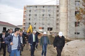 Ak Parti Bursa Milletvekili Hüseyin Şahin, Uludağ Üniversitesi İnegöl Yerleşkesi İçerisinde Yükselen 500 Kişilik 'kız Öğrenci Yurdu' İnşaatında İncelemelerde Bulundu.