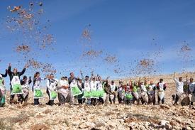 Mersin Genelinde Bu Sezon Ekimi Yapılacak 10 Milyar Karperli Sedir Tohumlarının İlki Erdemli İlçesi Sınırlarındaki 2 Bin 100 Rakımlı Ünlük Tepe'de Toprakla Buluştu.