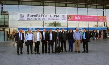 Bursa Ticaret Ve Sanayi Odası (btso) Üyeleri, Almanya'da Düzenlenen Euroblech Fuarı'nı Ziyaret Etti.