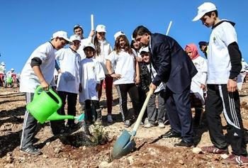 """Şehitkamil Belediyesi Tarafından Her Yıl Olduğu Gibi Bu Yılda Düzenlenen """"bi Dünya Yeşil"""" 9. Etap Projesiyle, 9. Etap Şehitkamil Ormanına, 25 Bin 600 Fidan Dikimi Gerçekleştirildi."""