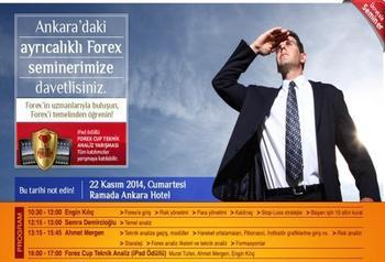 Destek Menkul Değerler, Ankara'da 22 Kasım Cumartesi Günü Ücretsiz Forex Semineri Düzenleyecek.